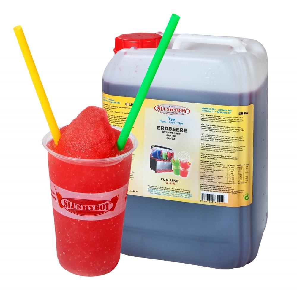 SLUSHYBOY®-Sirup 6-Liter-Kanister Erdbeere