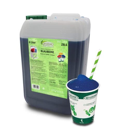 6-liter-Kanister Slushyboy Sugar Free Slush Ice Blaubeere