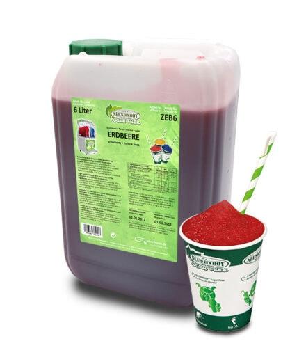 6-liter-Kanister Slushyboy Sugar Free Slush Ice Erdbeere